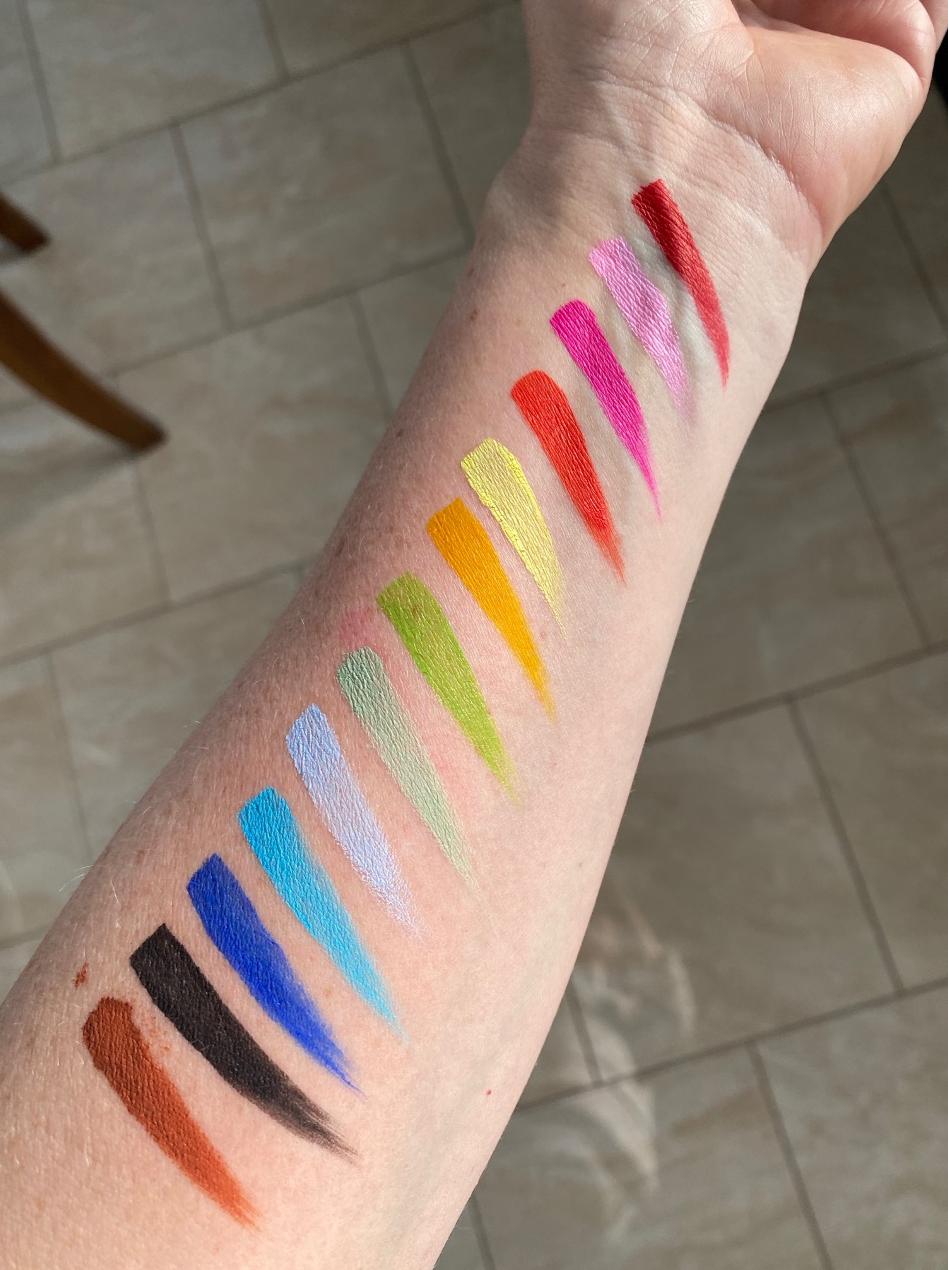 Sample face paint colours