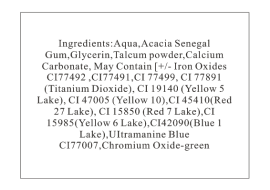 Face Paint Ingredients